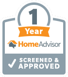 One Year HomeAdvisor Screened and Approved